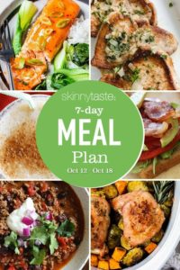 Plan de comidas saludables de 7 días (12-18 de octubre)