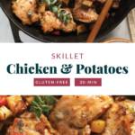 sartén de pollo y patatas