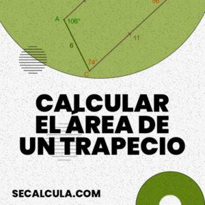 Calcular el área de un trapecio