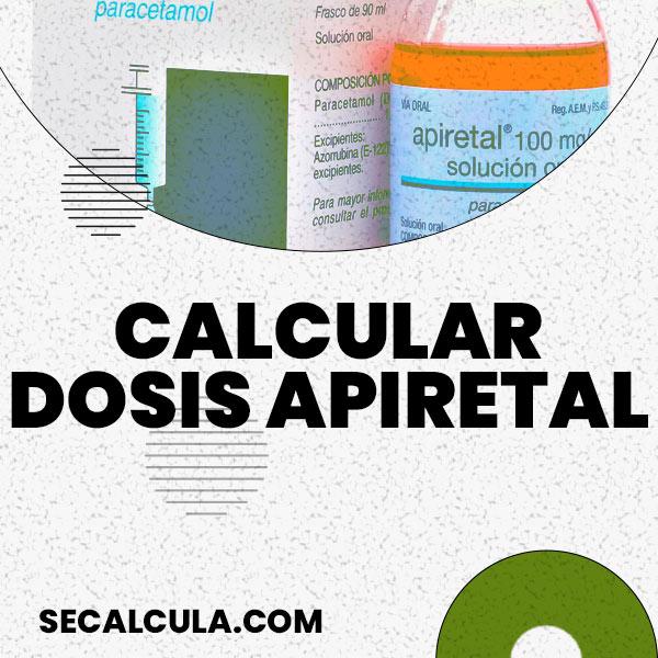 Calcular Dosis de Apiretal (Paracetamol Infantil)
