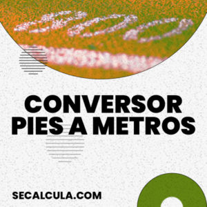 Conversor de Pies a Metros Online y Gratis