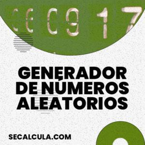 Generador números aleatorios