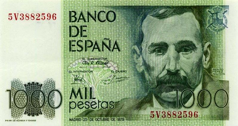 Billete 1000 pesetas - Conversor euros a pesetas